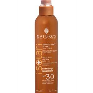 Isolari Przeciwsłoneczny spray kosmetyczny SPF 30 z organiczną wodą z wakuoli słodkich pomarańczy i mleczkiem ryżowym