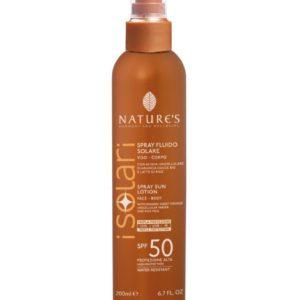 Przeciwsłoneczny spray kosmetyczny SPF 50 z organiczną wodą z wakuoli słodkich pomarańczy i mleczkiem ryżowym