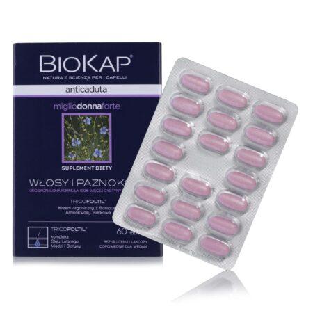 BIOKAP Anticaduta DONNA Tabletki Przeciw Wypadaniu Włosów dla Kobiet