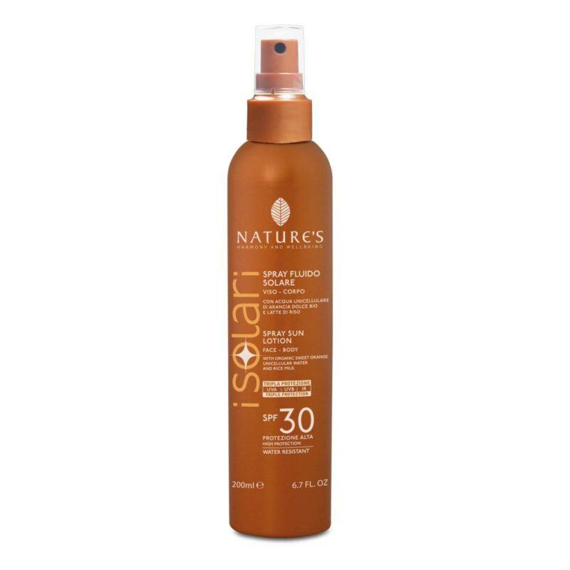 Isolari Przeciwsłoneczny spray kosmetyczny SPF 30 z organiczną wodą z wakuoli, 200ml