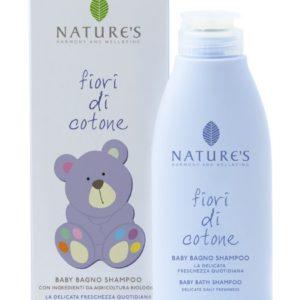 Fiori di Cotone Szampon do kąpieli dziecka ze składnikami z organicznej farmy