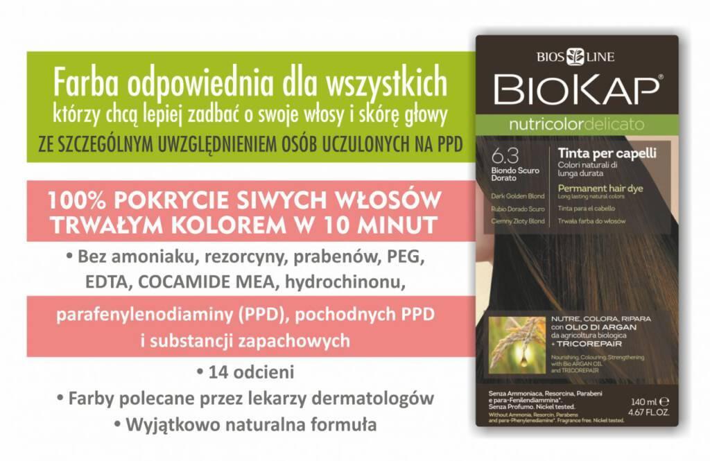 Farba Pielęgnacyjna Biokap Nutricolor Delicato