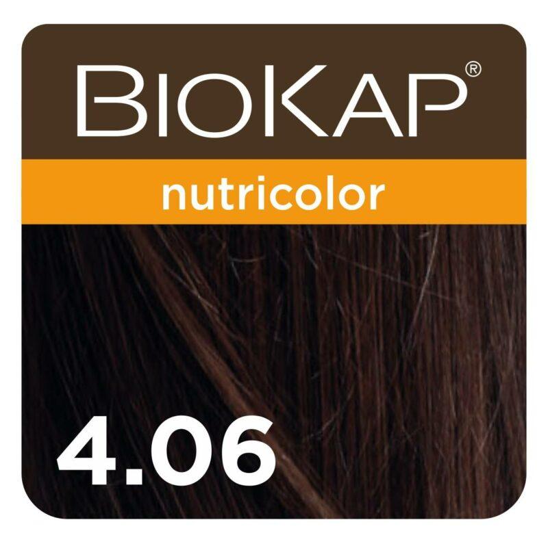 Farba Biokap Nutricolor, 4.06 Kawowy Brąz