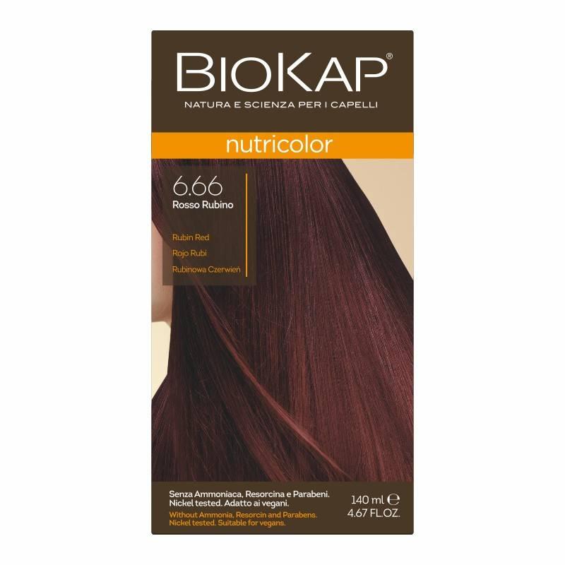 Farba Biokap Nutricolor, 6.66 Rubinowa Czerwień