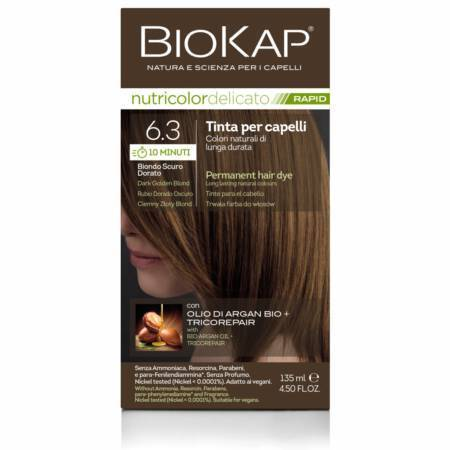 Farba Biokap Delicato Rapid, 6.3 Ciemny Złoty Blond - NOWOŚĆ