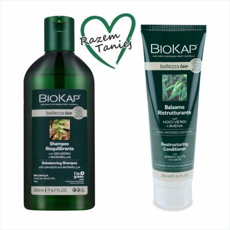 Zestaw do włosów zniszczonych (szampon reg.-nap., maska)