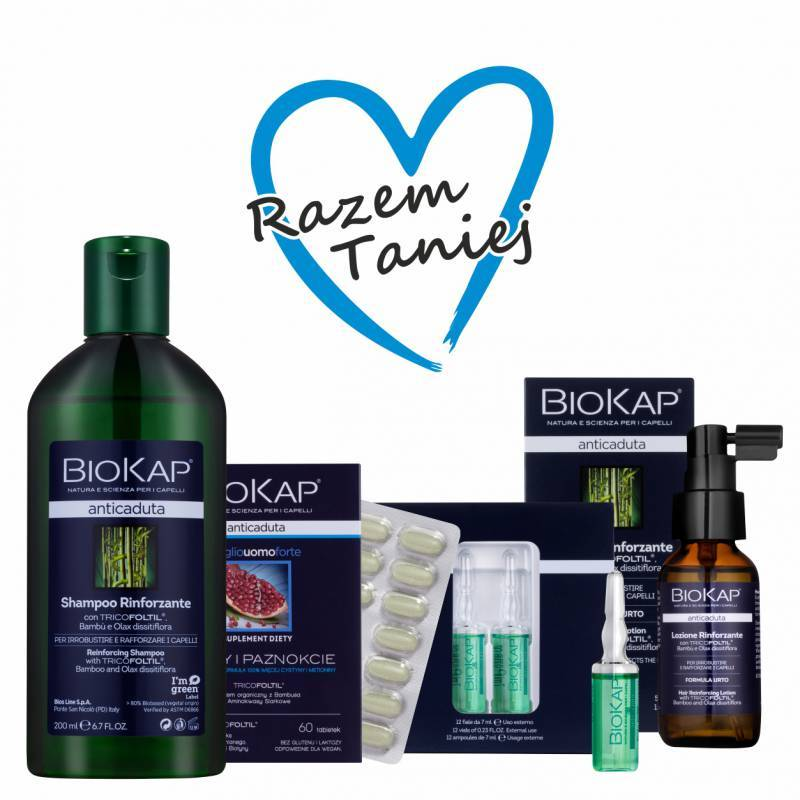 Zestaw dla włosów wypadających VII (Ampułki, lotion, szampon, tabletki)