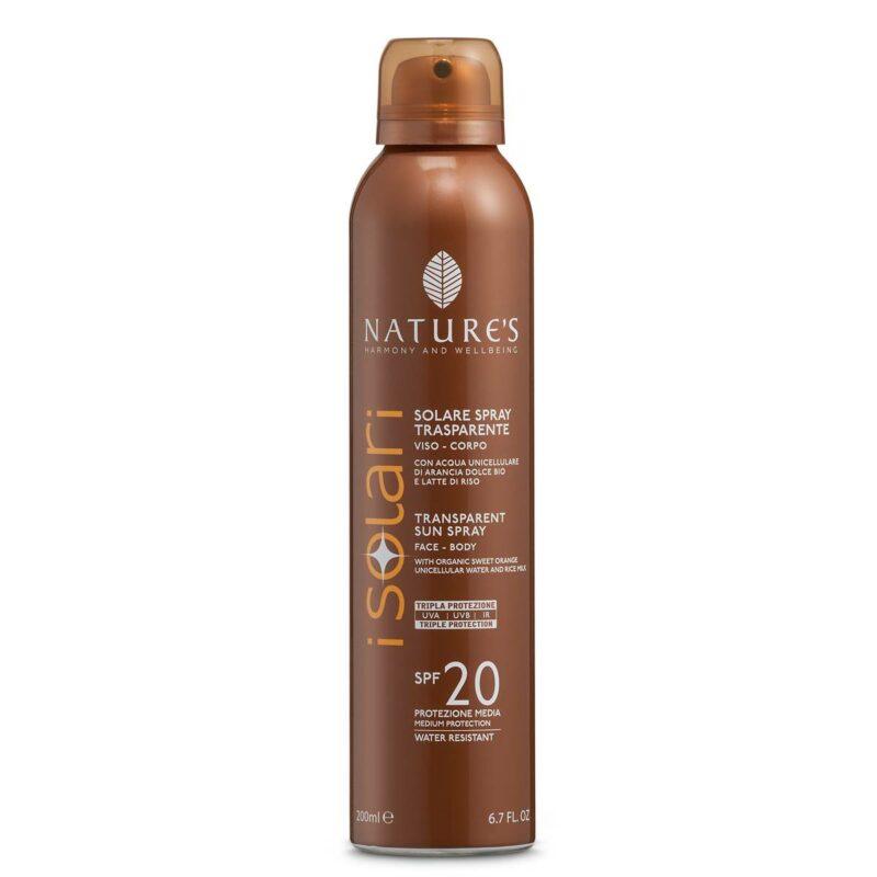 Isolari Przeciwsłoneczny Spray Kosmetyczny SPF 20, 200ML,